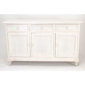 Leonard 3 Drawer 3 Door Accent Cabinet