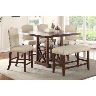 Stevens 6 Piece Pub Table Set Canora Grey