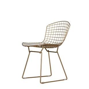 Brayden Studio Emborough Gold Wire Dining Chair