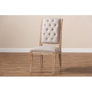 Caro Weathered Upholstered Dining Chair Gracie Oaks