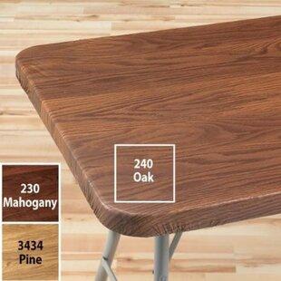 Violet Linen Woodgrain Elastic Table Cover