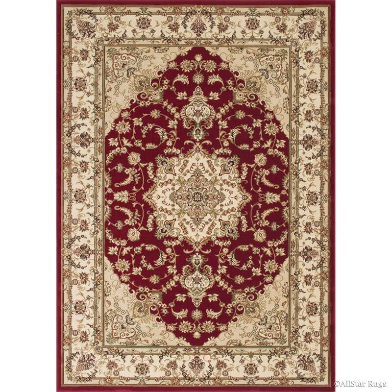 Arison High End Ultra Dense Woven Red Area Rug