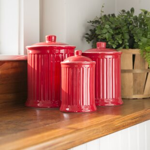 Red Canister Sets For Kitchen | Wayfair