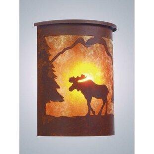 Steel Partners Moose 1-Light Outdoor Flush Mount