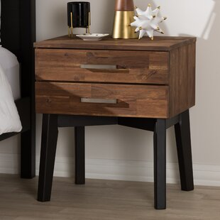 Union Rustic Tion 2 Drawer Wood Nightstand