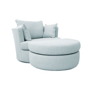 Ventura Swivel Tub Chair And Footstool By Brambly Cottage