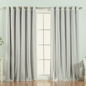 brunilda solid blackout thermal grommet single curtain panel