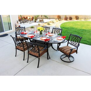Islais 7 Piece Sunbrella Dining Set with Cushions by Darby Home Co