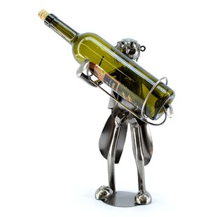 Old Waiter 1 Bottle Tabletop Wine Rack by..