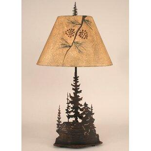 Goodman Feather Tree 33 Metal Table Lamp