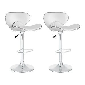 Barber Adjustable Height Swivel Bar Stool (Set of 2) by Wade Logan