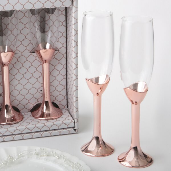 Gold Toasting Flutes Wayfair