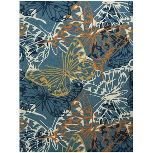 Arrellano Blue Indoor/Outdoor Area Rug