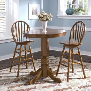 Acadian 3 Piece Pub Table Set by Alcott Hill