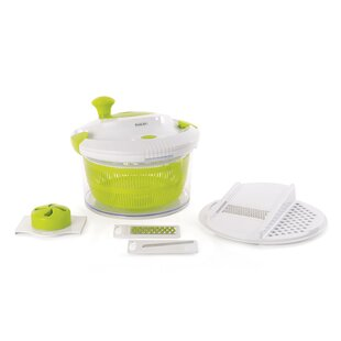 Cook'n'Co Salad Spinner with Slicing Attachment (Set of 5)