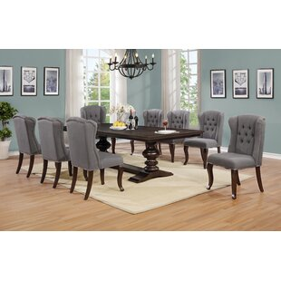 Aldana 9 Piece Extendable Dining Set Canora Grey