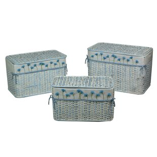 Andrea 3 Piece Wicker Laundry Set By August Grove