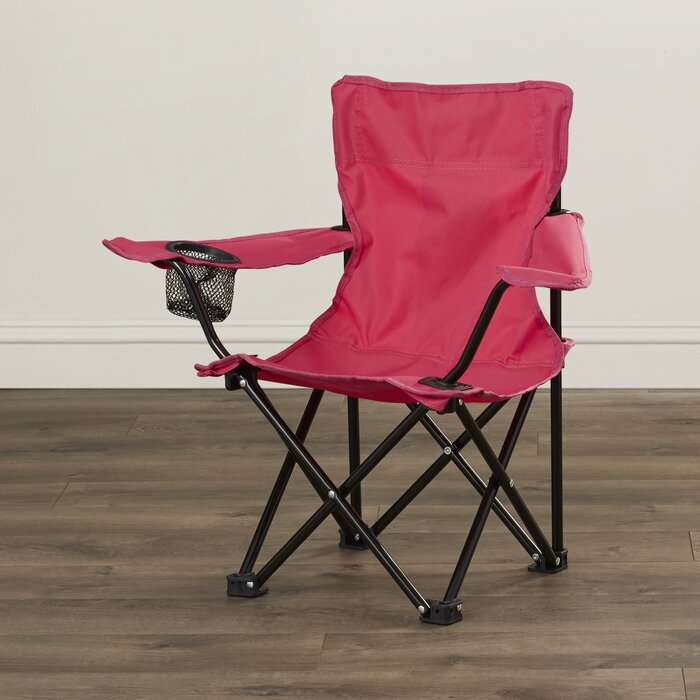 Peachy Crenshaw Folding Kids Camping Chair With Cup Holder Pdpeps Interior Chair Design Pdpepsorg