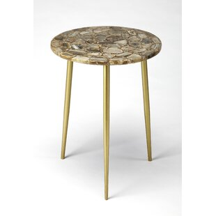 Briley Agate End Table by Everly Quinn