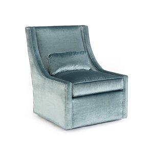 High Back Armless Swivel Club Chair
