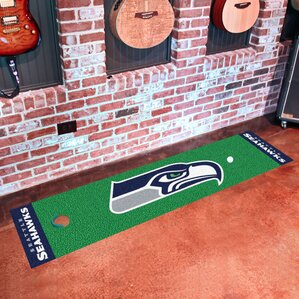 nfl seattle seahawks putting green mat