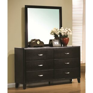 Volkonskaya 6 Drawer Double Dresser with Mirror