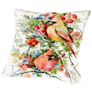 Cardinal Birds Throw Pillow