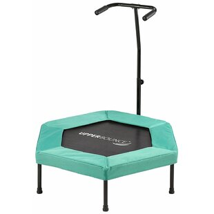 Upper Bounce Fitness 3' Hexagonal Mini-Trampoline with Bungee Cord Suspension
