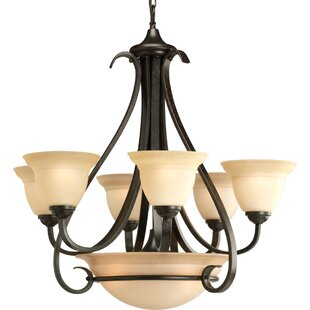 Fleur De Lis Living Lilly 9-Light Shaded Chandelier