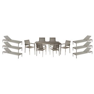 Wade Logan Dorsey 13 Piece Patio Set