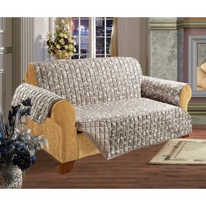 ELEGANT COMFORT Leaf Furniture Protector Box Cushion Loveseat Slipcover Image