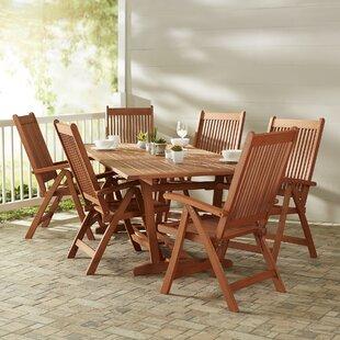 Beachcrest Home Monterry 7 Piece Indoor/Outdoor Dining Set