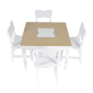Compare Kids 5 Piece Square Table and Chair Set ByX Rocker