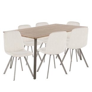Pinnix 7 Piece Dining Set Union Rustic