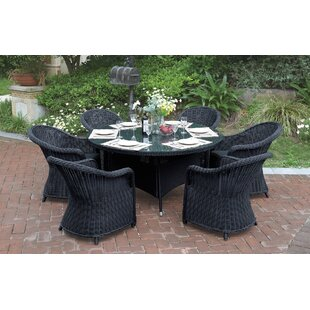 7 Piece Dining Set with Cushions by JB Patio