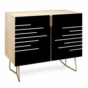 East Urban Home Kelly Haines Geometric Stripes Accent Cabinet