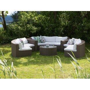 Hayashi Curved 9 Piece Sofa Set with Cushions