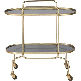 Remie Antique Bar Cart by House of Hampton