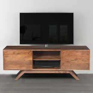 Purchase Rider Acacia Wood TV Stand for TVs up to 62 by Union Rustic Reviews (2019) & Buyer's Guide