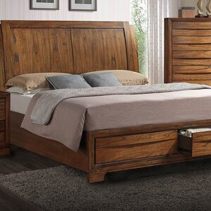 Russet King Storage Sleigh Bed by Loon..