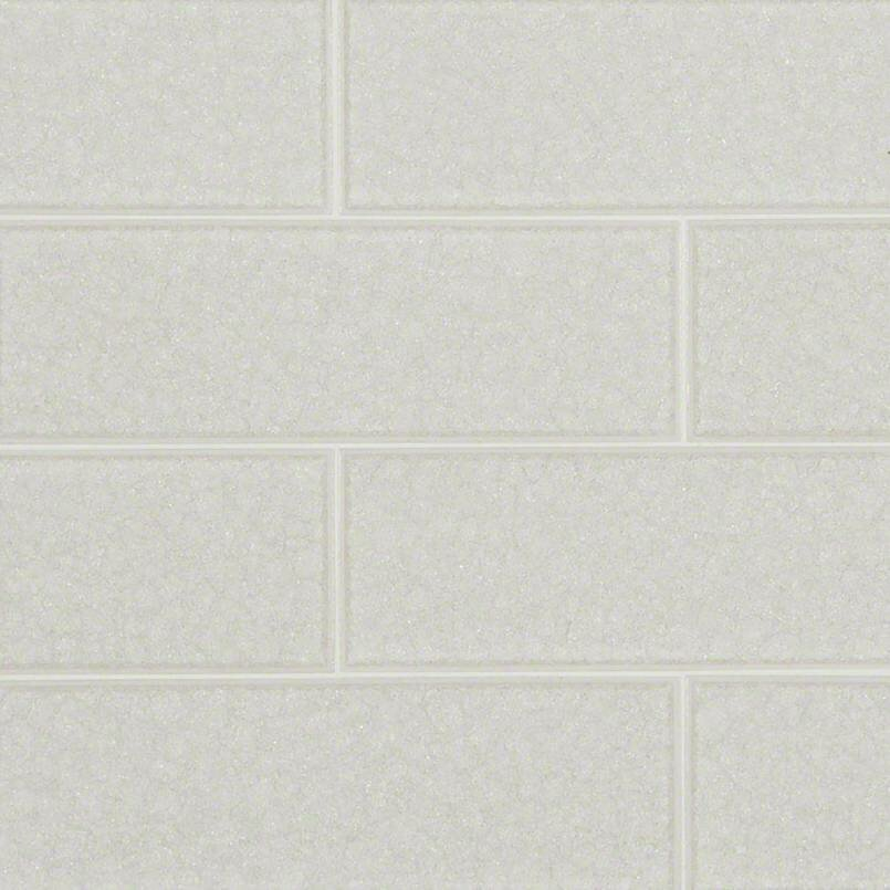 Msi Frosted Icicle 3 X 9 Gl Subway Tile In White Reviews