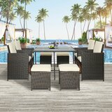 Ucon Patio 9 Piece Dining Set with Cushions