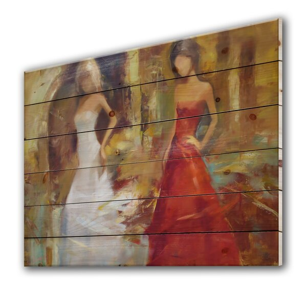Lady Red Dress Wall Art Wayfair