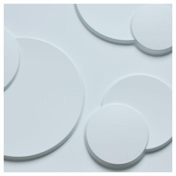 Orren Ellis Herefordshire 19 7 X 19 7 Vinyl Wall Paneling In White Wayfair