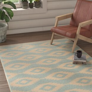 Deals Martinez Aqua/White Area Rug By Union Rustic
