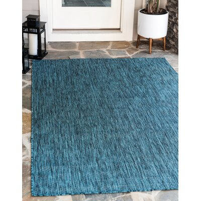 New Haven Teal  Area Rug Andover Mills Rug Size: 9' x 12'