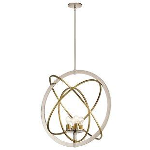 Wrought Studio Serenity 4-Light Globe Cha..