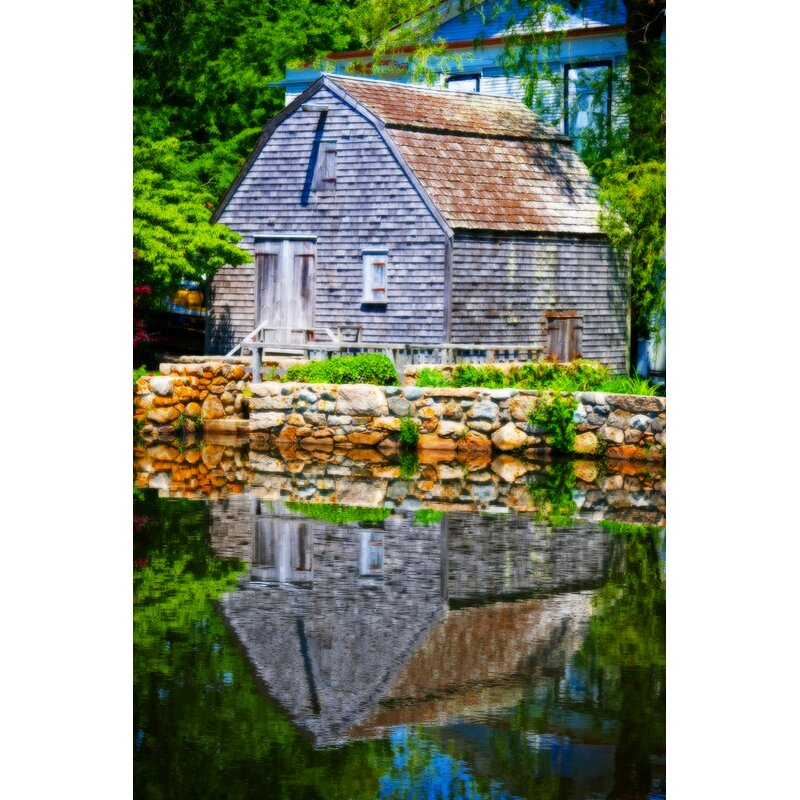 Buy Art For Less Old Grist Mill Portrait By Jobe Waters Photographic Print On Wrapped Canvas Wayfair