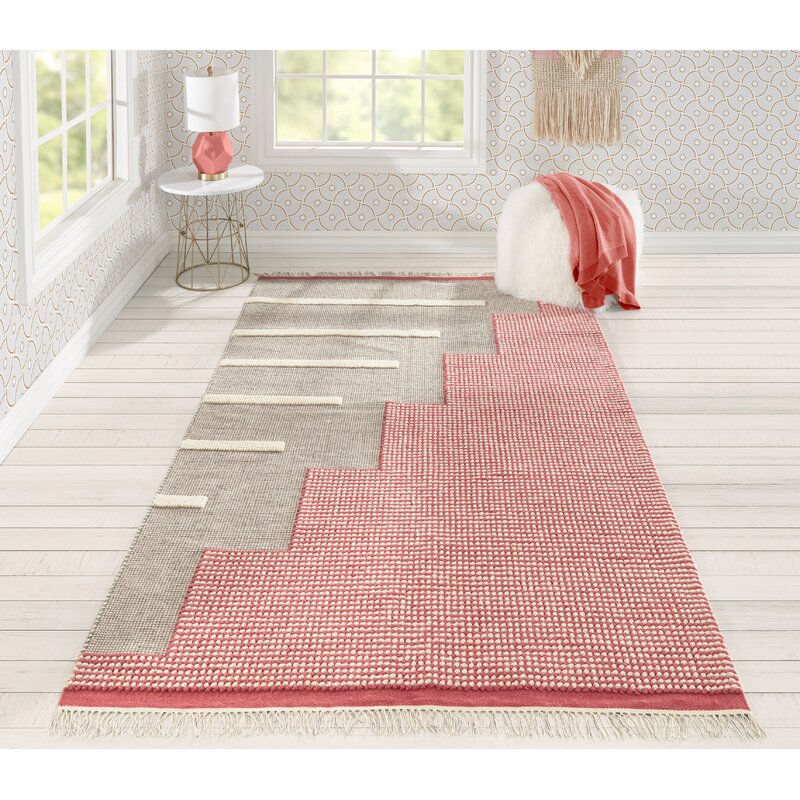 Novogratz Flatweave Wool Pink Area Rug Reviews Wayfair