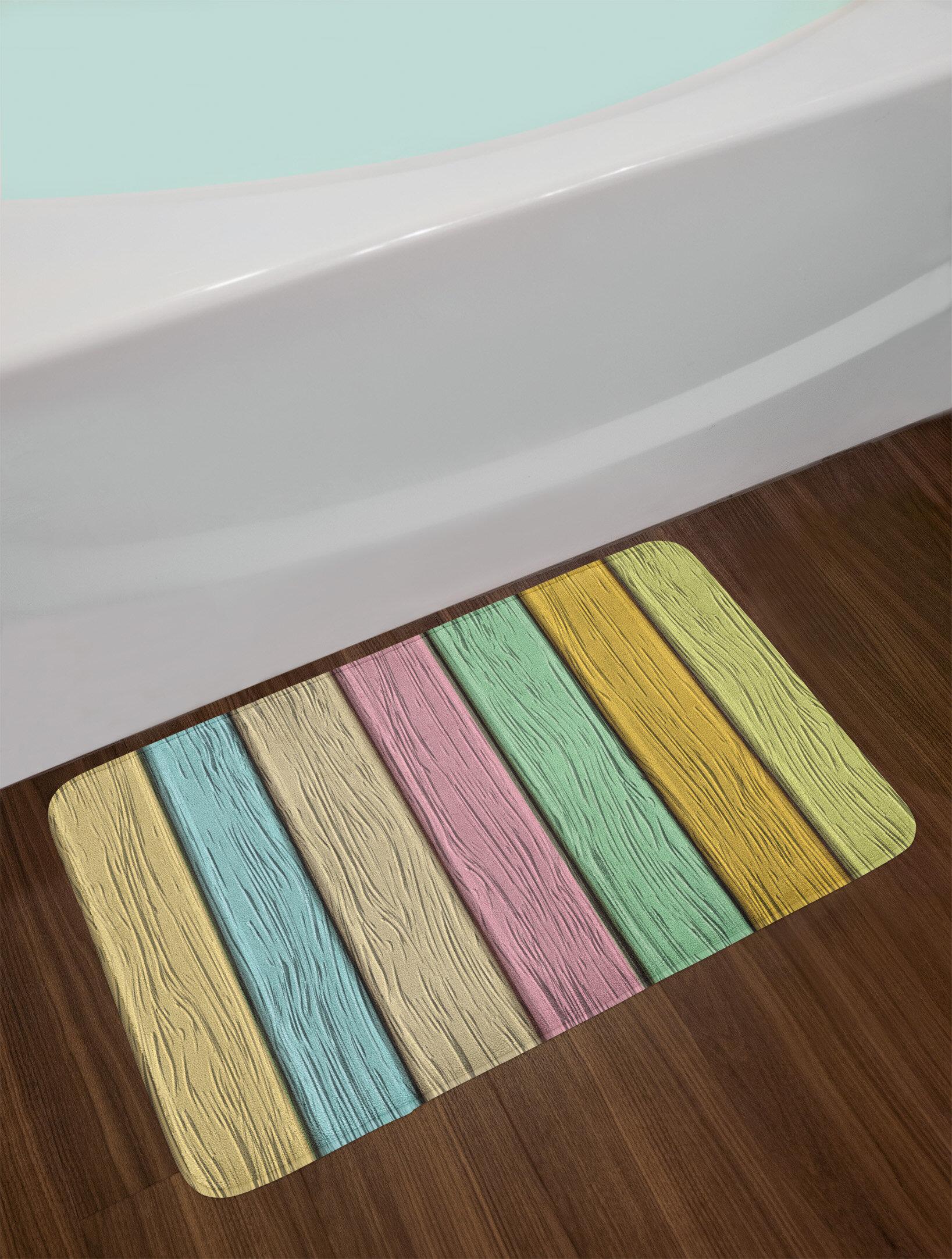 East Urban Home Pastel Colorful Bath Rug Wayfair